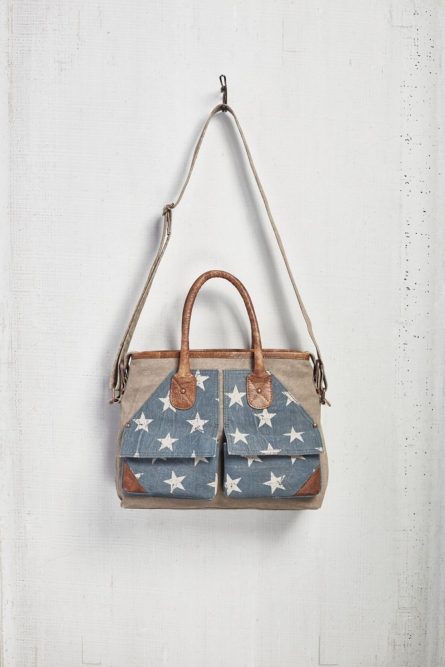 "Mona B Messenger Bag - ""Twilight"""