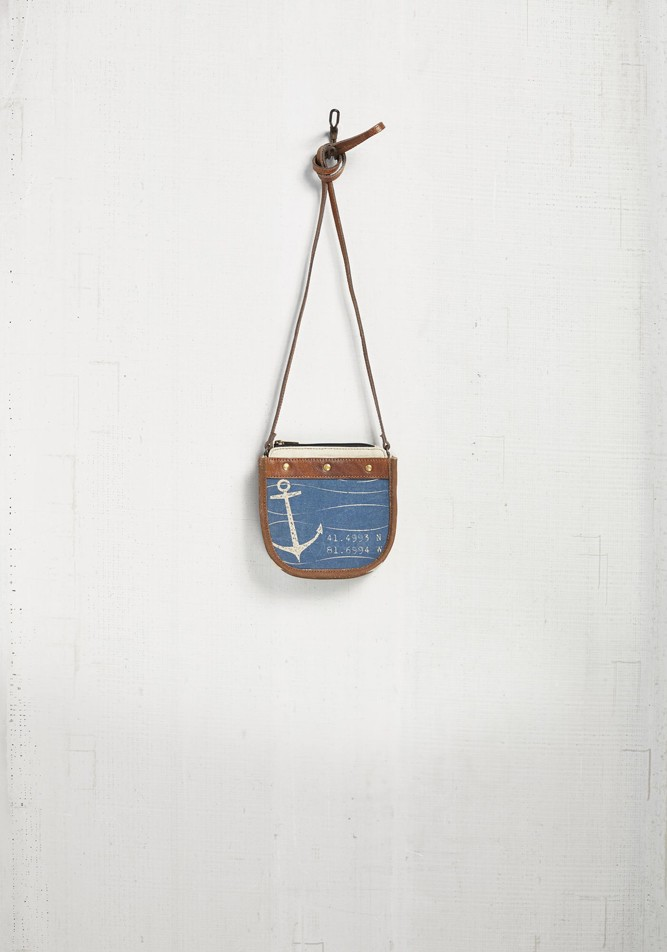 "Mona B Saddle Crossbody - ""Seas Life"""