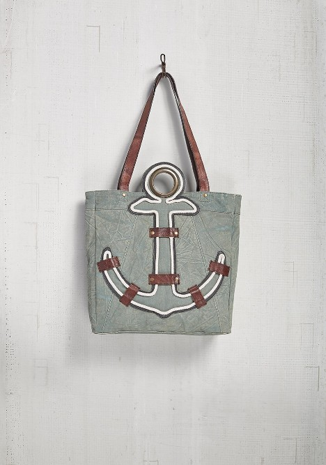 "Mona B Tote - ""Anchored"""