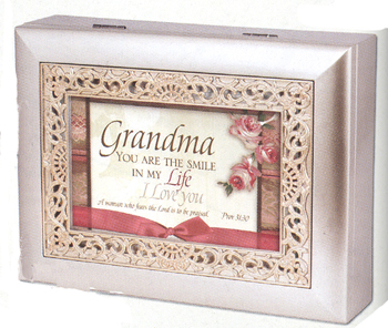 "Music Box - ""Grandma in Champaign Silver Finish"""