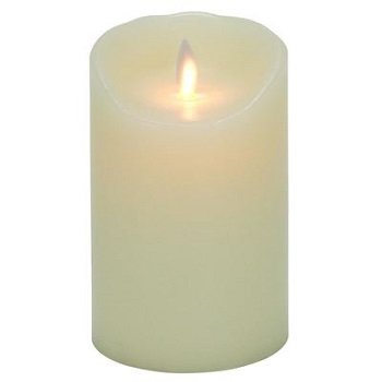 Flameless Pillar Candle - Mystique LED - Ivory - 5in x 3.25in