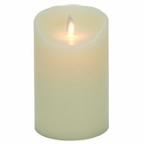 "Mystique Flameless Candle - Battery Operated 3.25"" x 5"" Ivory"
