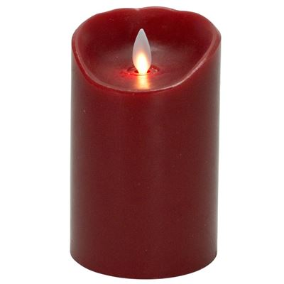 Flameless Pillar Candle - Mystique LED - Red - 5in x 3.25in