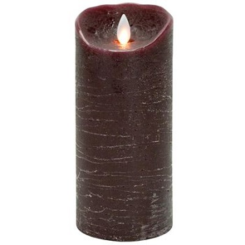 "Mystique Flameless Candle - Battery Operated 3.25"" x 7"" Burgundy"