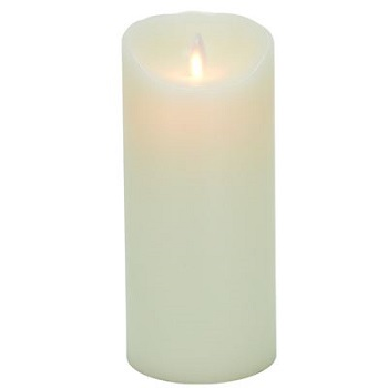 "Mystique Flameless Candle - Battery Operated 3.25"" x 7"" Ivory"