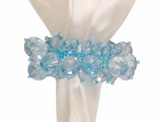 "Napkin Ring  - ""Blue Beaded Napkin Ring"""