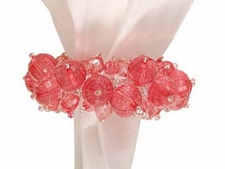 "Napkin Ring - ""Coral Beaded Napkin Ring"""