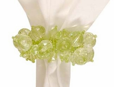 "Napkin Ring - ""Green Bead Napkin Ring"""