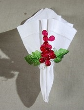 "Napkin Ring - ""Red Grape Napkin Ring"""