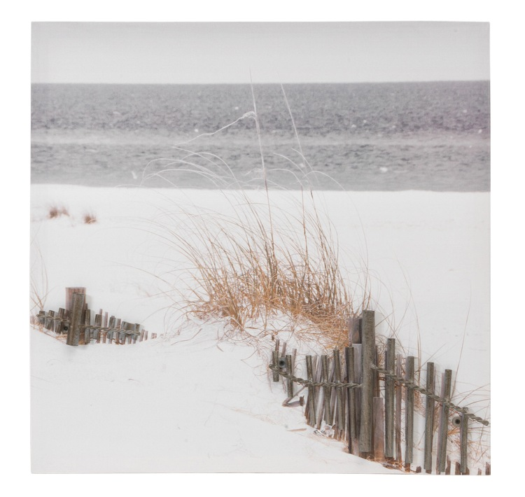"Nautical Wall Decor - ""Beach with Single Fence 3D Wall Hanging"" - 20 Inch"