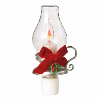 "Night Light  - ""Flicker Lantern with Holly Night Light"""