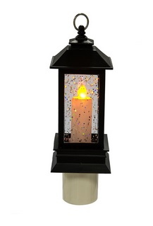 "Night Light - ""LED Shimmer Lantern Night Light"""