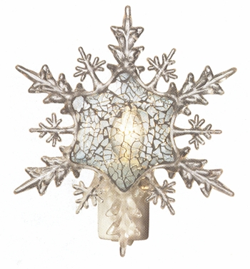 "Night Light  - ""Mosaic Snowflake Night  Light"""