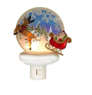 "Night Light - ""Santa With Reindeer Night Light"""