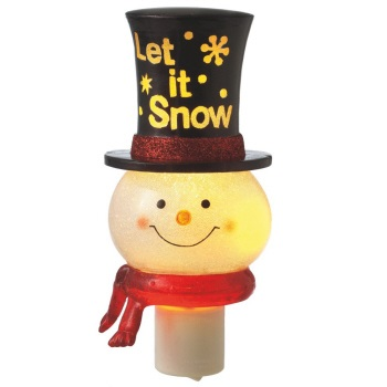 "Night Light - ""Snowman ""Let it Snow"" Top Hat Night Light"""