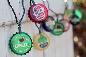 "Novelty String Lights - ""Bottle Cap Party Lights"" - Set of 10"