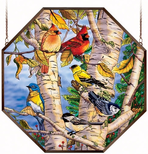 "Octagon Suncatcher - ""Songbird Favorites Window Panel"""