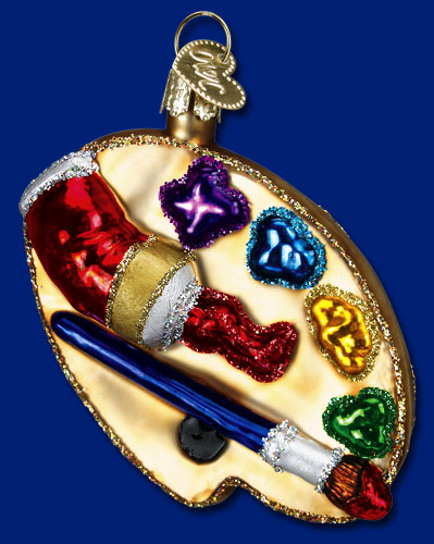 "Old World Christmas Glass Ornament  - ""Artist Palette"""
