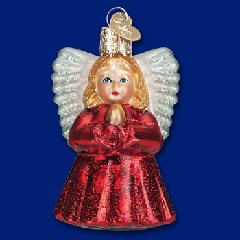 "Old World Christmas Glass Ornament - ""Baby Angel"""