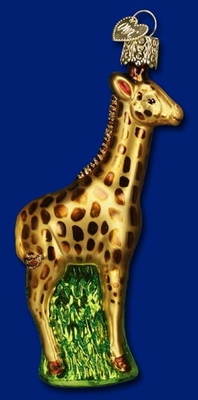 "Old World Christmas Glass Ornament  - ""Baby Giraffe"""