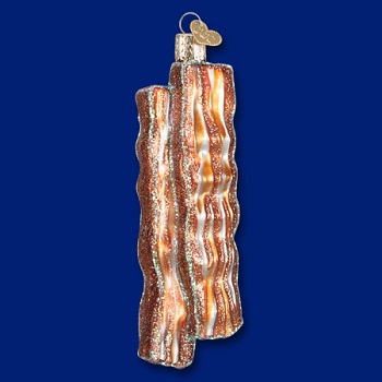 """Old World Christmas Glass Ornament - """"Bacon Strips"""""""