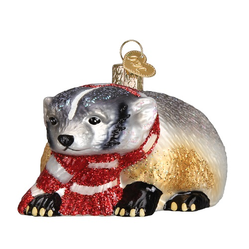 "Old World Christmas Glass Ornament - ""Badger"""