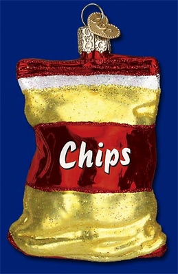 "Old World Christmas Glass Ornament - ""Bag Of Chips"""