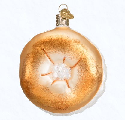 Old World Christmas Glass Ornament - Bagel