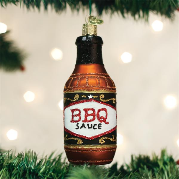 "Old World Christmas Glass Ornament - ""Barbeque Sauce"""