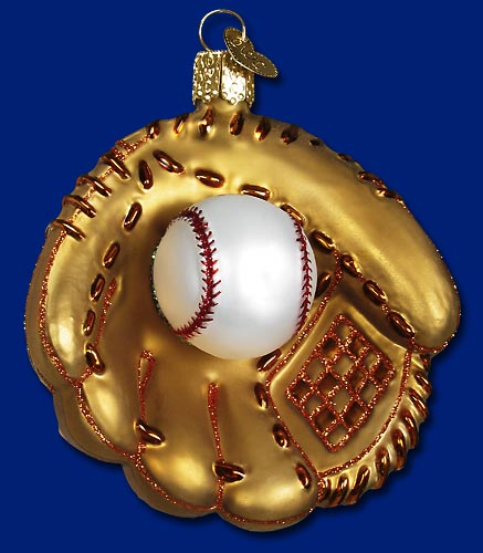 "Old World Christmas Glass Ornament - ""Baseball Mitt"""