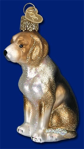 "Old World Christmas Glass Ornament  - ""Beagle"""