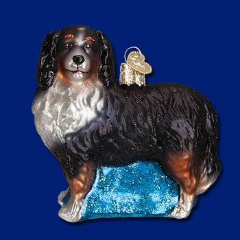 "Old World Christmas Glass Ornament - ""Bernese Mountain Dog"""