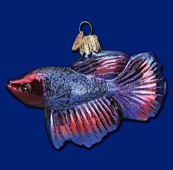 "Old World Christmas Glass Ornament - ""Betta Fish"""