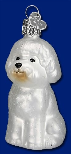 "Old World Christmas Glass Ornament - ""Bichon Frise"""