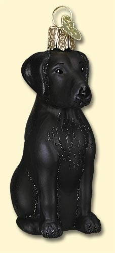 "Old World Christmas Glass Ornament - ""Black Lab"""