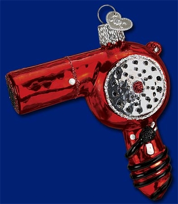 "Old World Christmas Glass Ornament - ""Blow Dryer"""