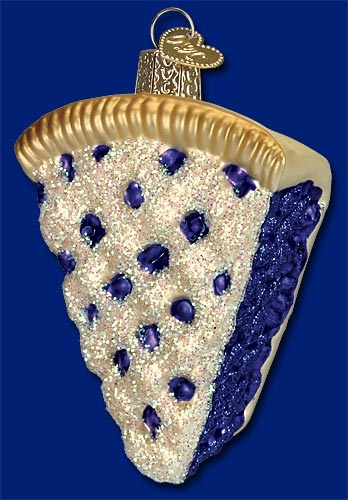 "Old World Christmas Glass Ornament  - ""Blueberry Pie"""