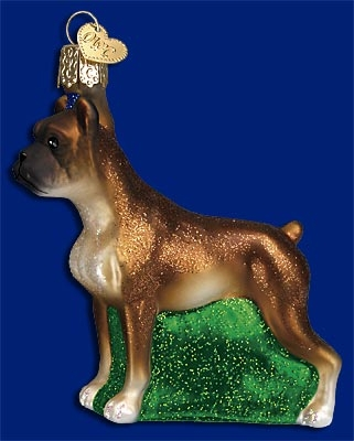"Old World Christmas Glass Ornament  - ""Boxer"""