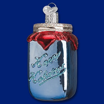 "Old World Christmas Glass Ornament - ""Canning Jar"""