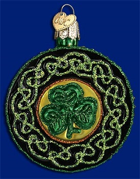 "Old World Christmas Glass Ornament - ""Celtic Brooch"""
