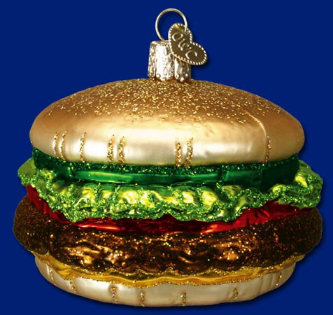 "Old World Christmas Glass Ornament - ""Cheeseburger"""
