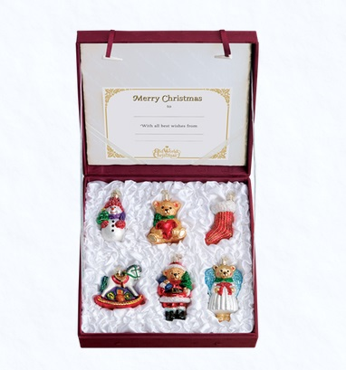 "Old World Christmas Glass Ornament - ""Child's First Christmas Collection"""
