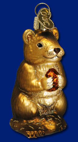 "Old World Christmas Glass Ornament - ""Chipmunk"""