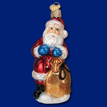 "Old World Christmas Glass Ornament - ""Chocolate Mold Santa"""