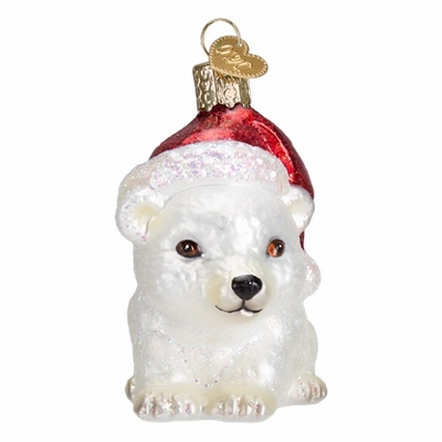"Old World Christmas Glass Ornament - ""Christmas Polar Bear"""