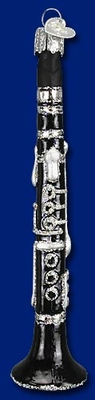 """Old World Christmas Glass Ornament  - """"Clarinet"""""""