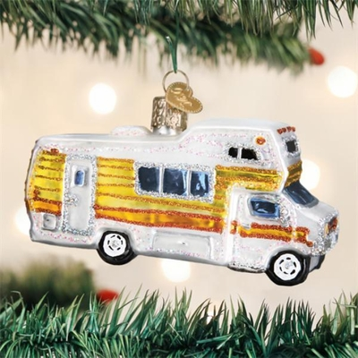 "Old World Christmas Glass Ornament - ""Classic Motorhome"""