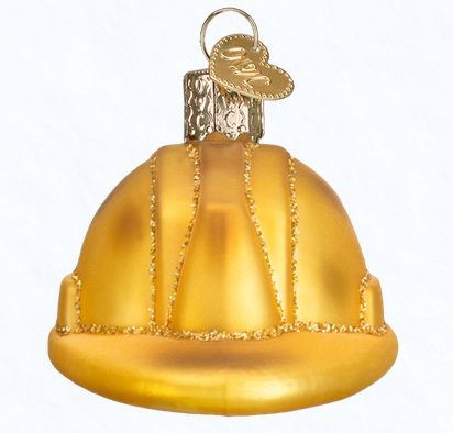 Old World Christmas Glass Ornament - Construction Helmet