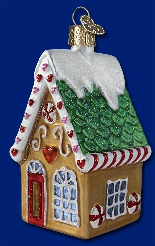 "Old World Christmas Glass Ornament - ""Cookie Cottage"""