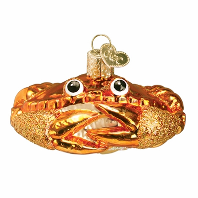 "Old World Christmas Glass Ornament  - ""Crab Louie"""